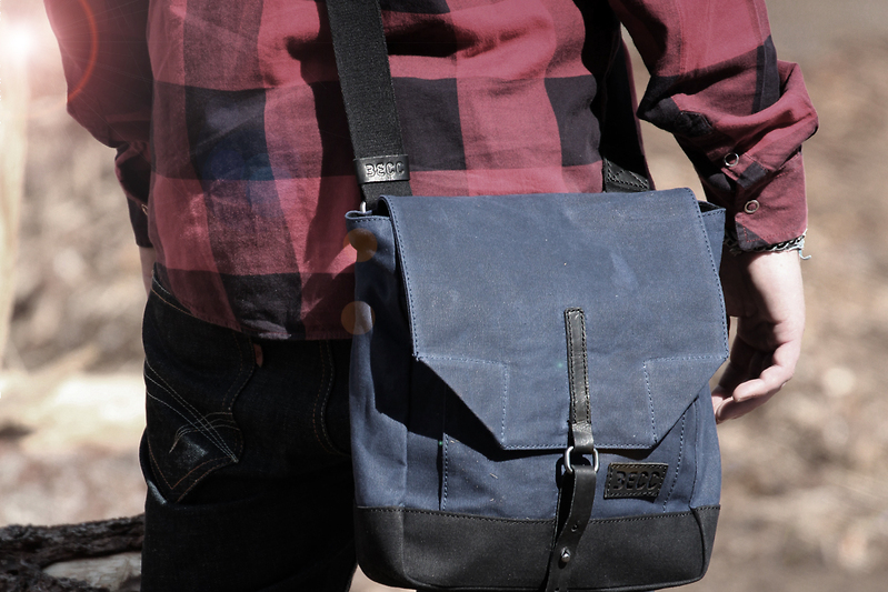 Shoulderbag vaxed canvas