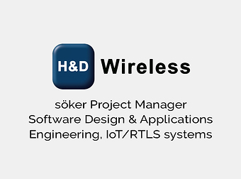 H&D Wireless söker Project Manager Software Design & Applications Engineering