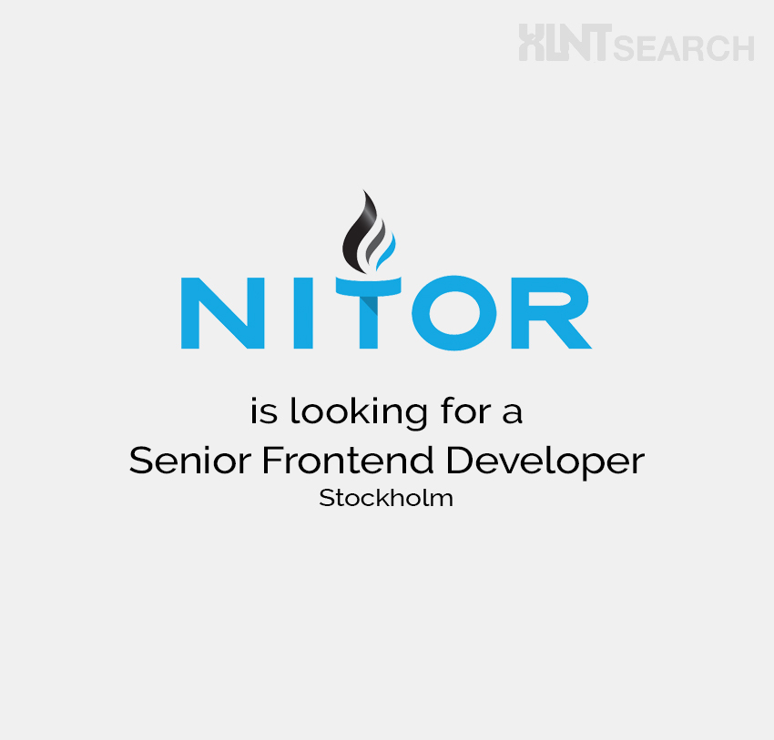 Nitor is looking for a Senior Frontend Developer