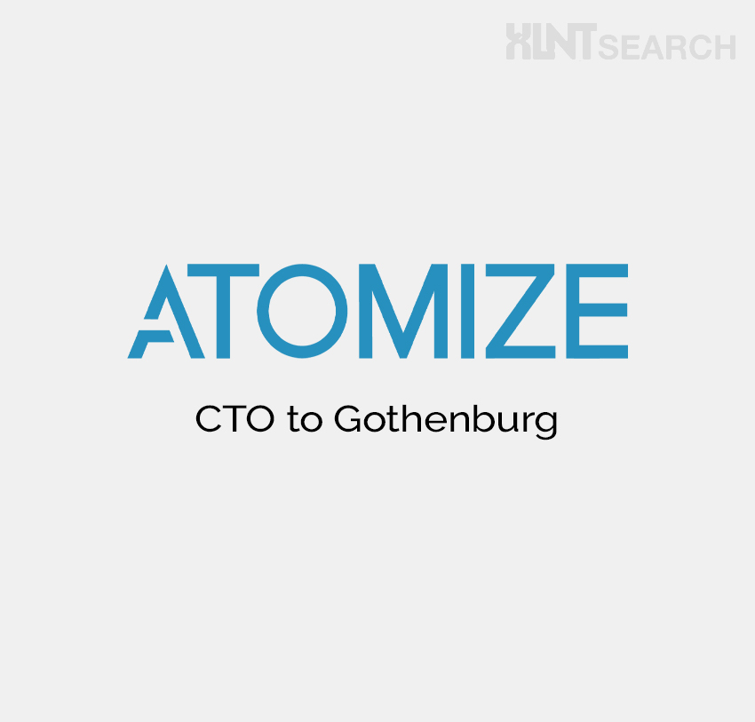 New assignment: CTO to ATOMIZE in Gothenburg