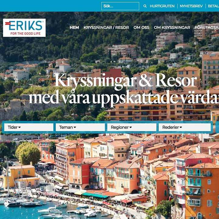 Hemsida åt Club Eriks – Web Design Digital Guidance