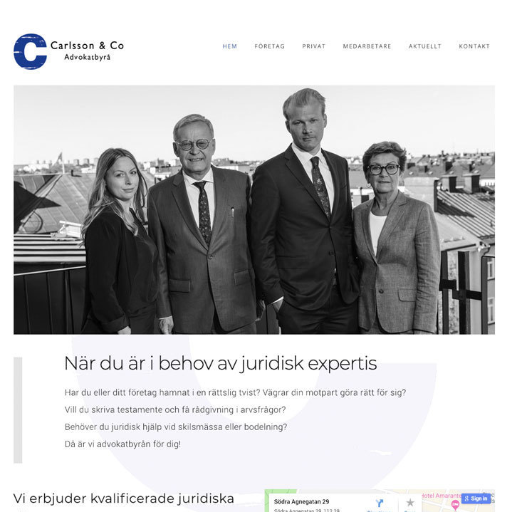 Hemsida till Carlsson & Co – Web design Digital Guidance