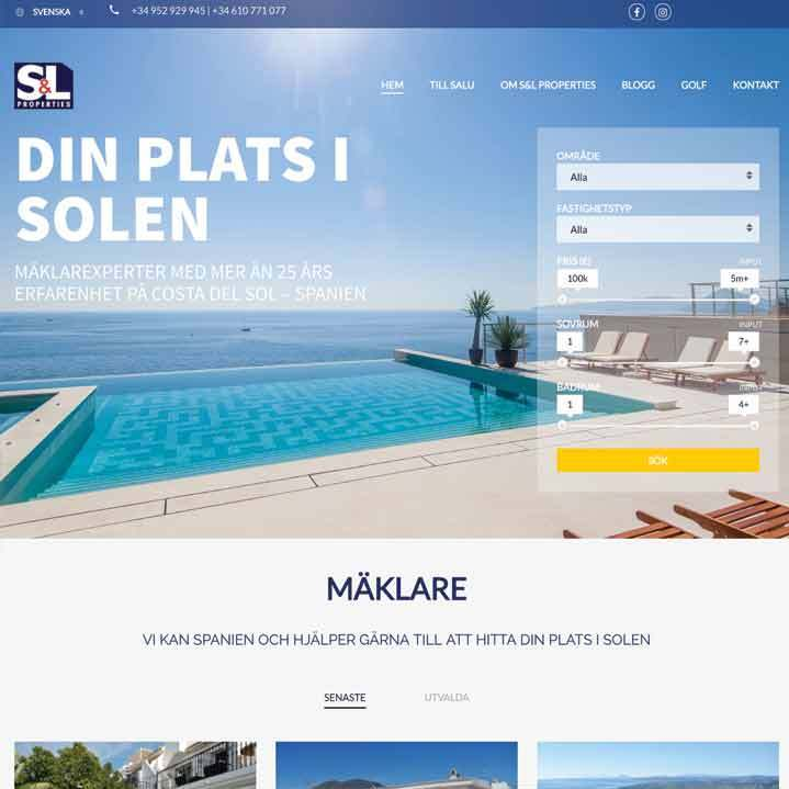 Web Site for Real Estate Agen in southern Spain