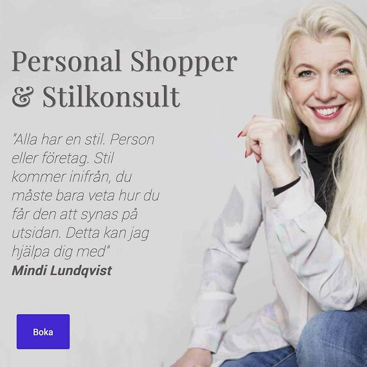 Web Design – Web site with ecommerce – Personal Shopper & Stilkonsult